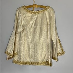 Tops - Handmade Gold Bell Sleeve Tunic Top